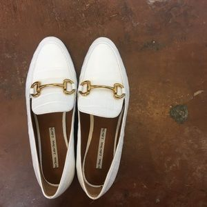 & other stories white leather loafers